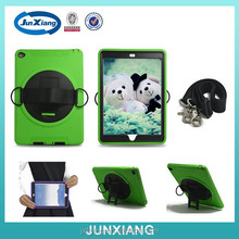 Wholesale kickstand shockproof tablet back cover for ipad air with hand and shoulder strap