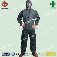 2015 hot sale Disposable Protective SMMMS CFR1000 Elastic waist wrist and ankle Safety Coverall