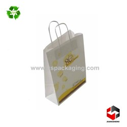hot sale cheap printed recycled white kraft fancy paper bag