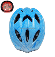 colorful kids bike helmet with tail light