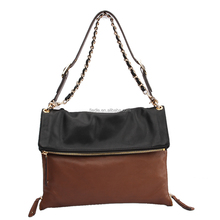 S07-C447 brand name flap bag double cc handbag plain clutch bag ladies leather vanity bag