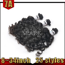 Fashion Noble Exotic Raw Brazilian Tight Curl Remy Hair Weave