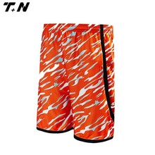 womens stylish orange color basketball short