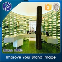Custom wide selection wood acrylic cosmetic counter top display