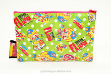 School supply cartoon picture print large pencil pouch