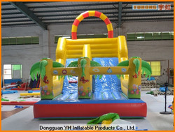 fire retardant PVC tarpaulin commercial inflatable slip and slide for children
