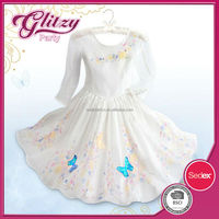 PD-67 2015 new fashion casual dress for angel girls cheap butterfly printed princess dress kids party dress costumes