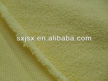 polyester sherpa fabric bonded suede fabric/sherpa fleece fabric
