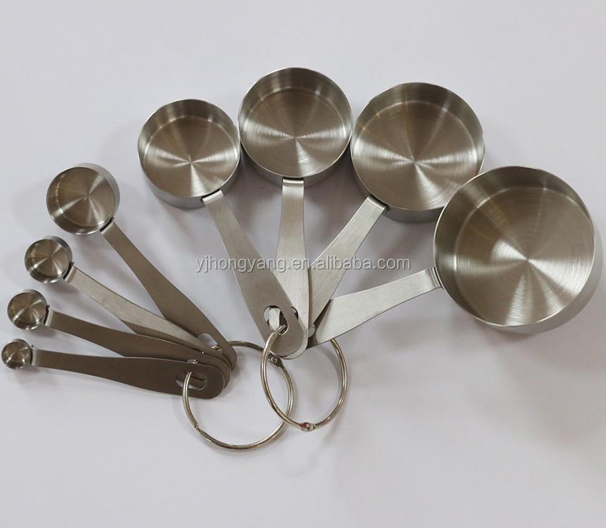 10 pcs acier Inoxydable tasse à mesurer et cuillère ensemble