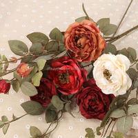 flowres artificial flowers Big rose silk flower Valentine's Day/wedding decoration flores artificiales