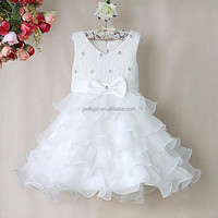 Children 10 year boutique fashion apparel for girls Kid party layered Dress New products south korea GD31115-7