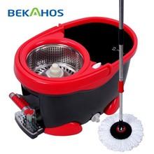 Professional Industrial Price 360 Floor Mop Squeegee Cleaning Mop with Mop Bucket