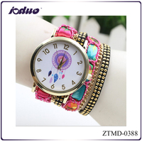 2015 New design fashion Bohemian style purple hanging watches