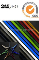 color cover stainless steel braided teflon brake hose with colorful aluminum banjo fitting