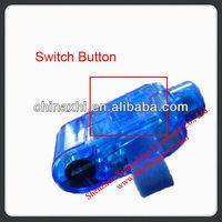 Led flashing fiber optic finger ring