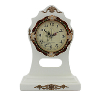Table clock with antique finsh for home decoration GBD-1071H
