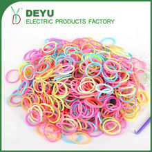 Cheap Silicone rubber Band Logo customized Promotional hair accessories Wristbands