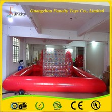 High quality 1.0mm thickness PVC/TPU colorful inflatable water roller, durable water rolling ball