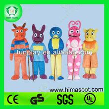 HI best quality backyardigans mascot costumes, cheap mascot costumes,funny mascot costumes