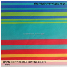190T pa coated dyed curtain taffeta fabric