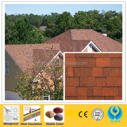 red asphalt roof shingles