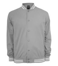 Urban Classics Summer Cotton College Jacket - Size: M - Color: lightgrey