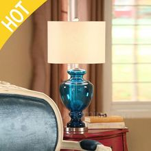Teal Bedside Table Lamps 4 Port Usb Table Lamp