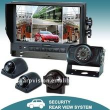 Quad view color car back up camera system