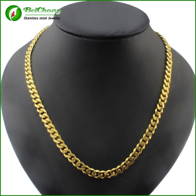 Fashion gold necklace jewelry new gold neck chain designs for Bulk jewelry chain canada