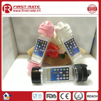New creative ibottle plastic sports bottle can hold cellphone for outdoor