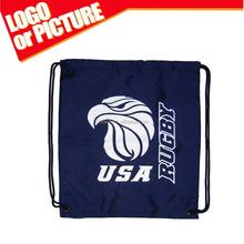 Custom sport team logo Printing Polyester Rugby USA Fashion Unisex Cinch gym drawstring Bag for sportsperson/player