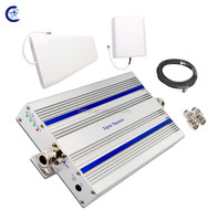 GSM repeater 1800mhz 4G LTE cell phone amplifier, mobile phone signal booster set with antenas made in China