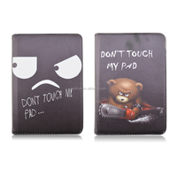Don't Touch My Pad Rotating Flip Stand PU Leather Tablet Cover Case For iPad Mini 4