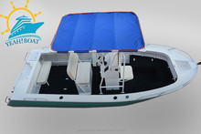 high quality center console aluminum fishing boat with T top