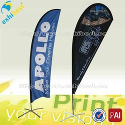 advertising custom teardrop beach banner, beach flying banners