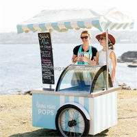 mobile italian ice cream disply /popsicle tricycle /food cart for sale(CE)