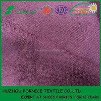 China manufacturer 100gsm polyester shoes lining fabric suede