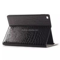 For ipad air 2/iPad 6 The crocodile grain leather flip cover case with stand with 4pcs card slot