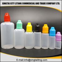 HD e juice oil pe plastic bottle 50ml with white childproof tamper cap normal tip plastic e liquid bottle