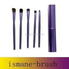 New Professional Pony Hair Eyeshadow Brushes Set & Kits 5pcs 5 pcs Makeup Brushes For Eye Makeup Tool Kit + Round Tube