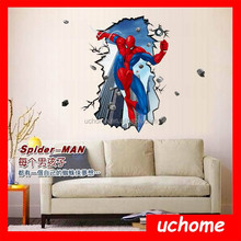UCHOME Hot New Products for 2015 Removable Home Decoration Spider-man Wall Stickers