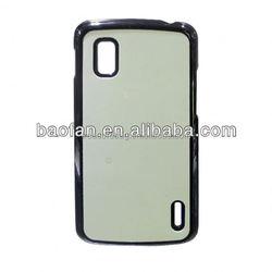 Sublimation hard PC phone case for LG nexus4 with aluminum insert