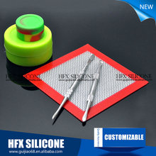 Wholesale price for anti-slip silicone ecig vaping pad individually wrapped silicone dab mat heat resistance baking mat