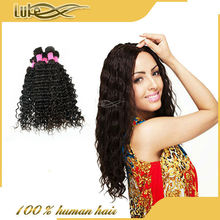 Top quality peruvian hair natural color can be permed hair extension