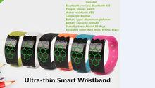 smart bracelets bluetooth BT4.0 Calorie consumption measurement wristband Sleep quality detection