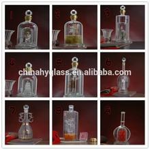 Vacío de vidrio botella de licor, vodka vacía botella de vidrio, pequeñas botellas de vidrio de la venta