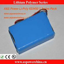 7.4v 1100mah li-polymer portable battery