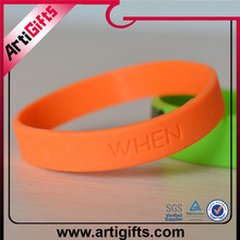 Fast Delivery Customize two tone silicone bracelet