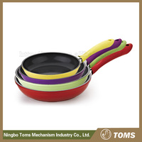 Easy for clean cast iron enamel frying pan