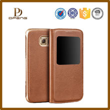 Customized personalized waterproof screen protector mobile phone leather case for samsung galaxy s6